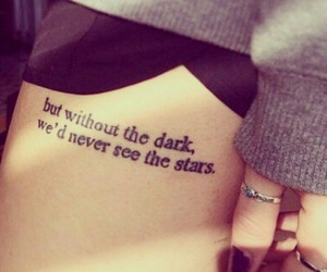 tattoo, quotes, and stars image
