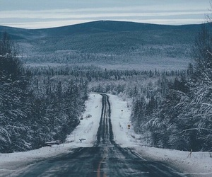 green, road, and snow image