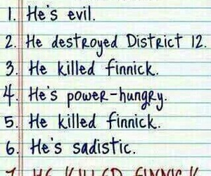 finnick, snow, and hunger games image