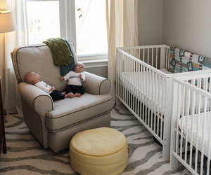 babies, crib, and house image