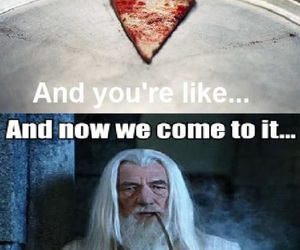 funny, gandalf, and pizza image