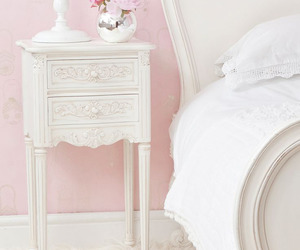 bed, colors, and pink image