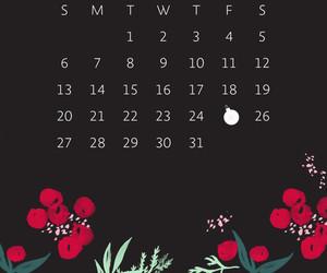 calendar, christmas, and december image