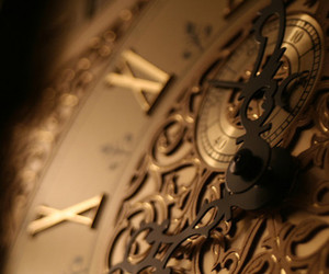 clock, time, and gold image