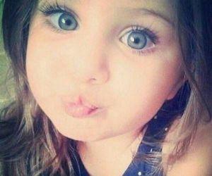 girl, baby, and eyes image