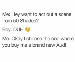 funny, audi, and fifty shades of grey image
