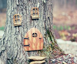 tree, house, and door image