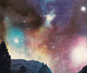 aesthetic, galaxy, and winter image