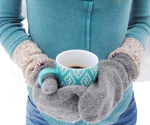 coffee, winter, and fashion image