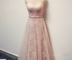 long evening dress, tulle party dress, and lace long prom dress image