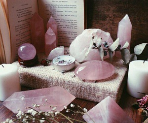 crystal, pink, and book image