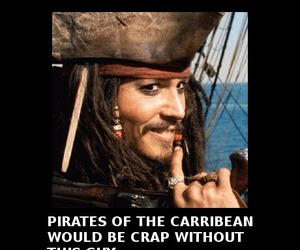 funny, johnny depp, and pirates of the caribbean image