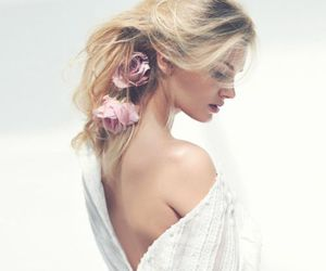 flowers, hair, and Lily Donaldson image
