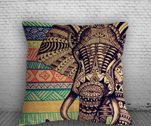 aztec, elephant, and pillow image
