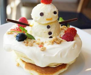 food, snowman, and fruit image