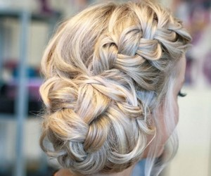 hairstyles, braided, and loose image