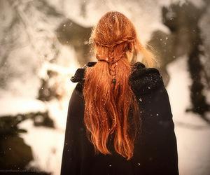 girl, beautiful, and magic image