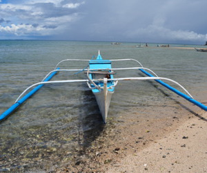 boat, clear water, and filipino image