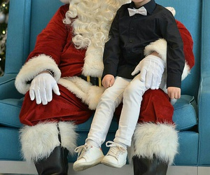 christmas, little boy, and santa image