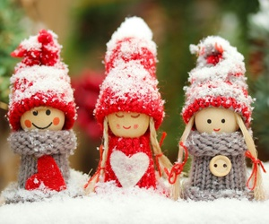 christmas, doll, and winter image