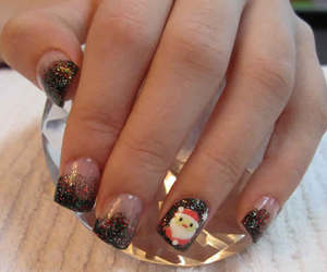 nails designs, easy nail art, and christmas nail art image
