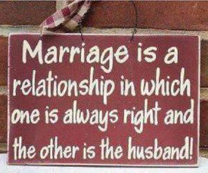 marriage, funny, and quote image