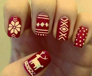 christmas red nails image