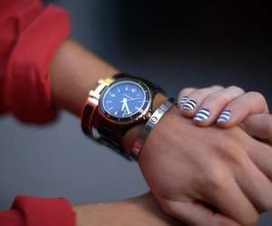 watch, nails, and hand image