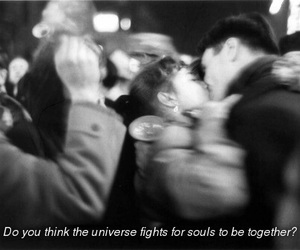 soul mates, universe, and love image