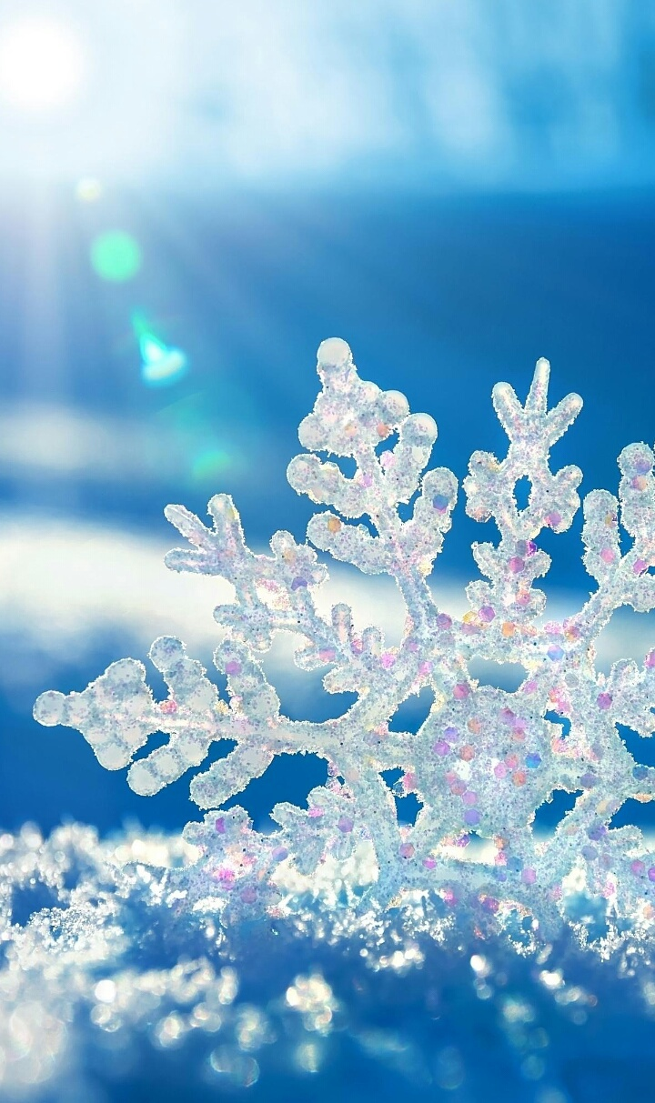 Blue Color Snowflake Wallpapers Winter On We Heart It