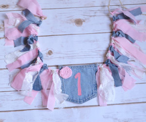 etsy, party banner, and denim banner image