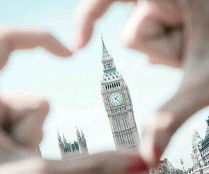 london, heart, and Big Ben image
