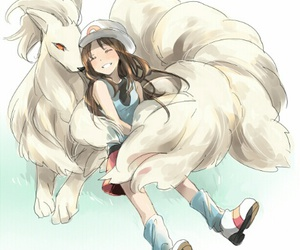 pokemon, ninetails, and girl image