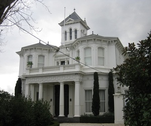 house, white, and pale image