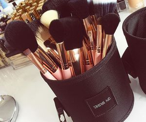 makeup, Brushes, and girly image