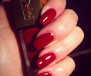 nails, red, and YSL image