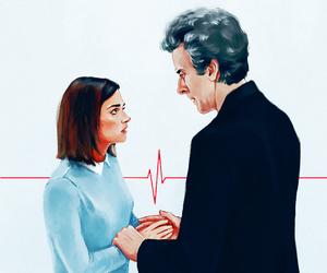 doctor who, clara oswald, and whouffaldi image