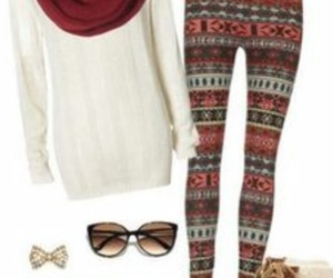 boots, cozy, and leggings image