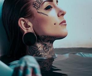 girl, tattoo, and make up image