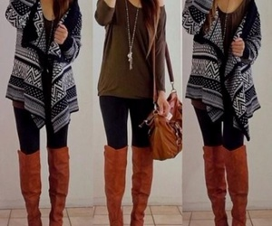 boots, cozy, and hair image