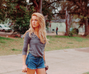 girl, blonde, and amber heard image