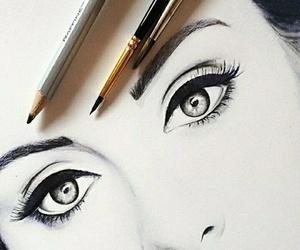 drawing, eyes, and Adele image