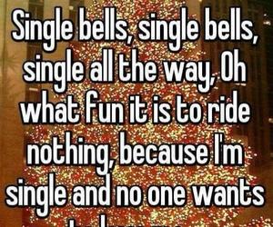 alone, single, and christmas image