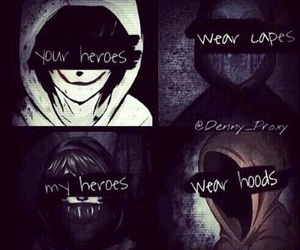 creepypasta, hoodie, and eyeless jack image