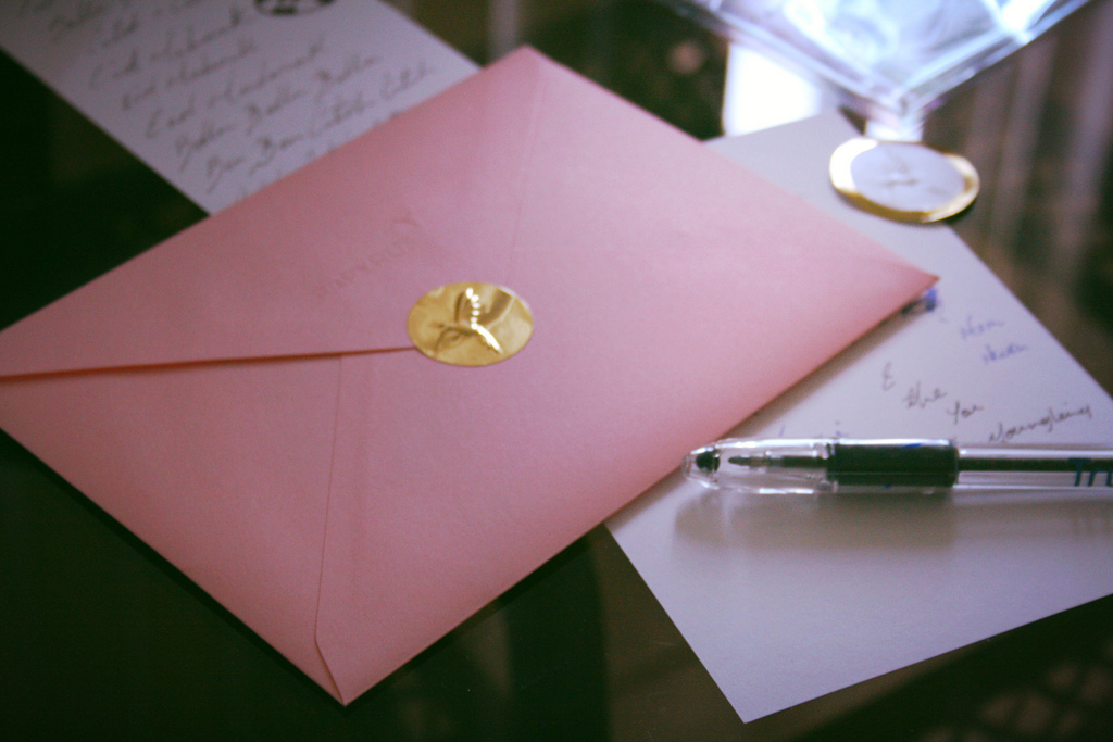 beautiful, envelope, and gold image