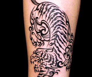 tattoo, tiger, and tribal image