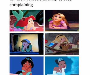 disney, prince, and princess image
