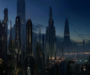 star wars, city, and future image