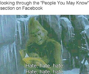 facebook, hate, and grinch image