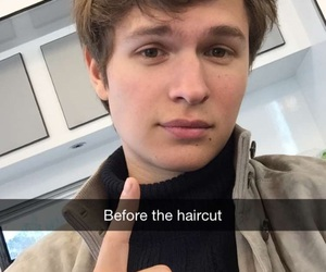 ansel elgort and hair image